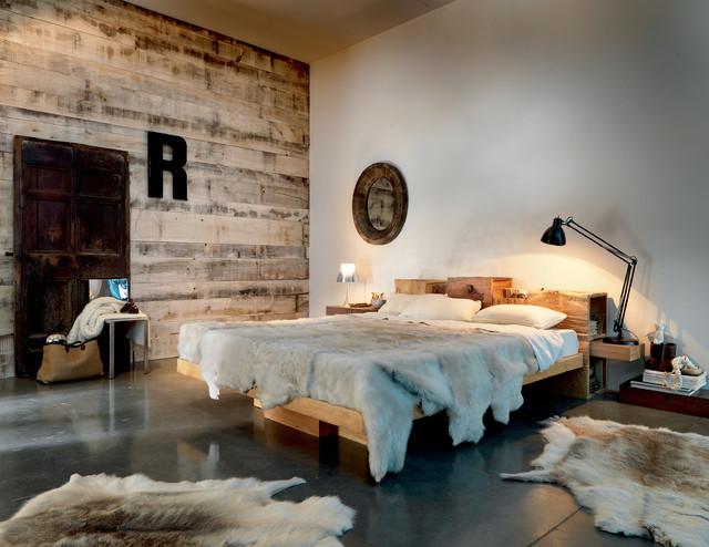 Legno nel moderno in montagna camera da letto bologna di