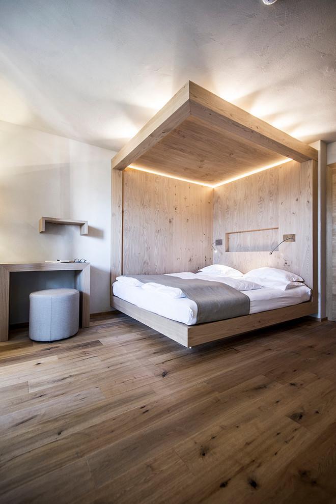 Esempio di una camera da letto minimal