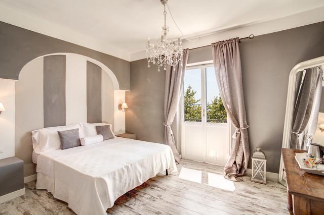 progetto camere albergo borgo vista lago classico