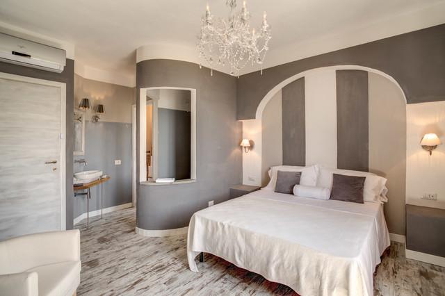Progetto camere albergo borgo vista lago traditional for Camere albergo design