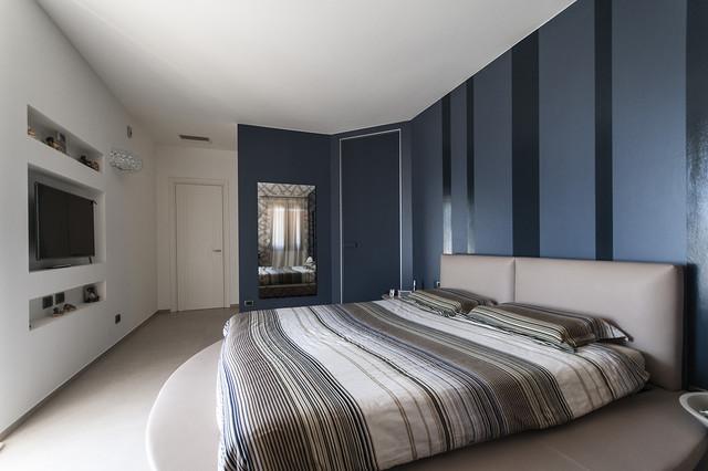 realizzazioni - contemporaneo - camera da letto - milano - di ... - Camera Da Letto Blu Notte