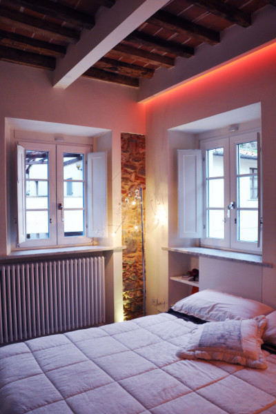 Immagine di una camera da letto bohémian