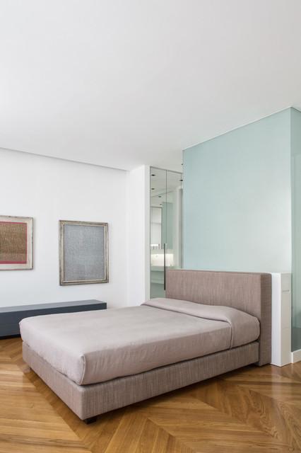 Sma studio milanese di architettura via santa cecilia milano contemporaneo camera da - Studio in camera da letto ...