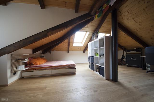 Camera Da Letto Sottotetto.Recupero Sottotetto Contemporary Bedroom Turin By 3p Project
