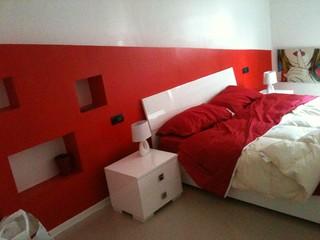 Testata del letto con arredo fisso in cartongesso - Testata letto cartongesso ...