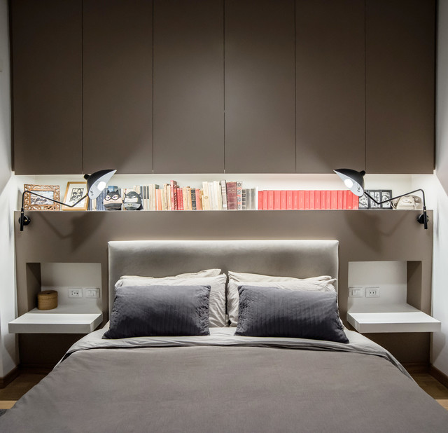 Testata Letto Attrezzata.Testata Letto Attrezzata Industrial Bedroom Rome By Arch