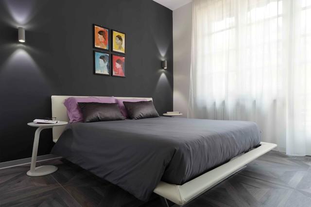 Eleganti Camere Letto Bianco Nero : Camere da letto nere stampato arte pittura ad olio fiore