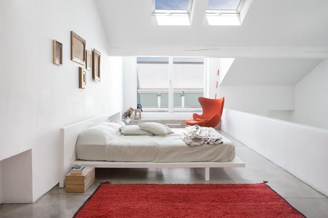 White loft milano contemporaneo camera da letto milano di riccardo gasperoni - Camera da letto milano ...