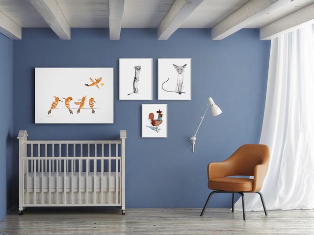 4 opere per la camera dei bambini scandinavian nursery - Camera dei bambini ...