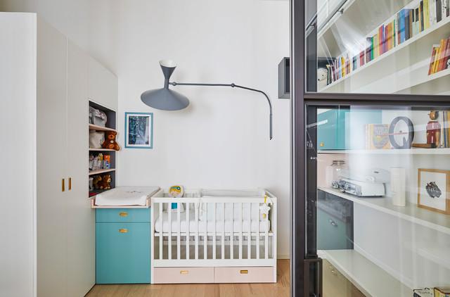 Un'isola accogliente per una nuova famiglia | 80 mq contemporaneo-neonati