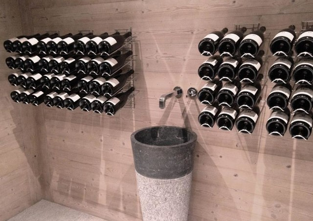 Am nagement design wine cellar other metro by agencement cave for Amenagement cave