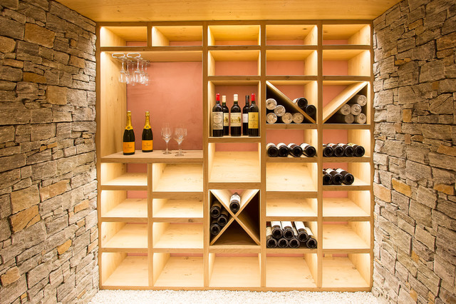 Cr ation d 39 une cave vin contemporain cave vin for Meuble cave a vin