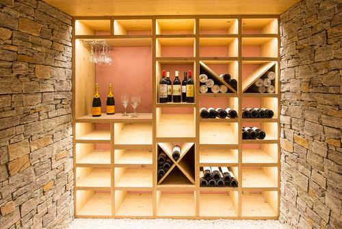 Sous-sol de la Semaine : Une cave à vin d\'inspiration chalet
