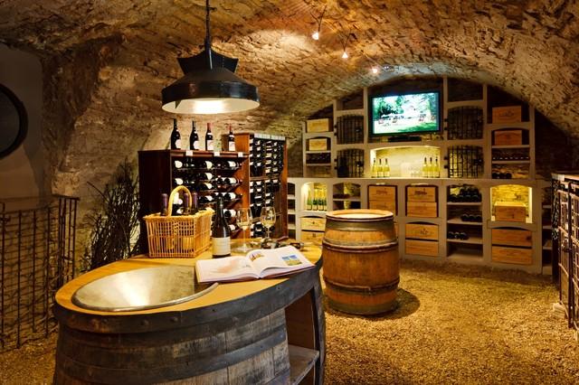 Wine Cellar Of Burgundy Limestone Rustic Wine Cellar