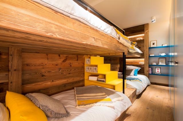 Chalet Meribel rustico-dormitorio-infantil