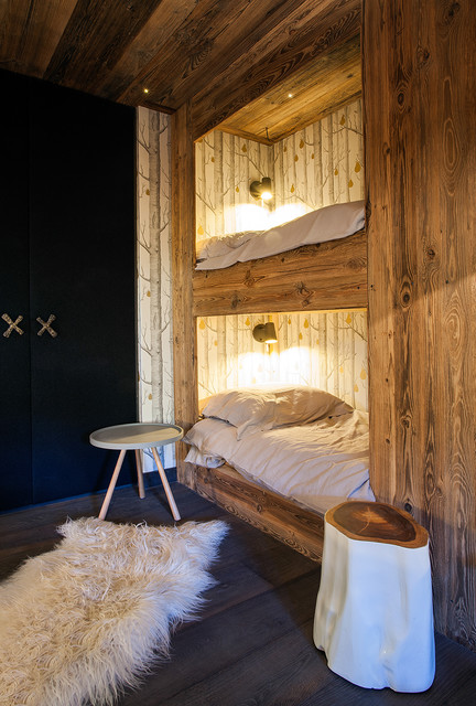 chalet the cross montagne chambre d 39 enfant lyon par refuge. Black Bedroom Furniture Sets. Home Design Ideas