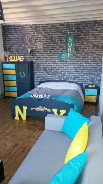 Chambre Ado Style Industriel Colore Industrial Kids