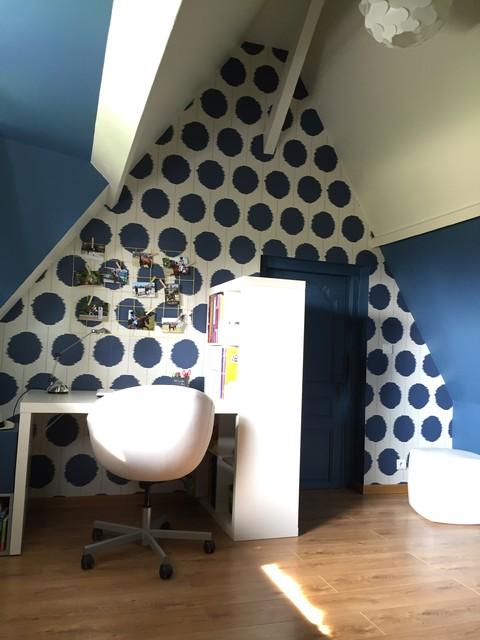 Chambre peinte en bleu for Chambre peinte en bleu