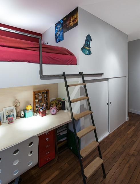 Chambre d\'enfant avec mezzanine - Modern - Kinderzimmer ...