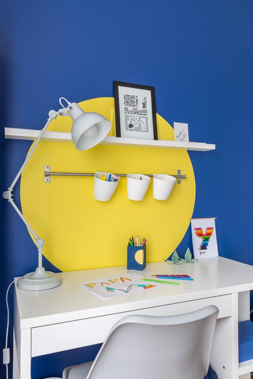 quelques ides pour rajouter des couleurs et de la vie un bureau denfant