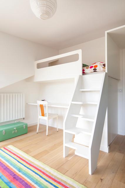 chambre enfant - escalier compact pas japonais - Modern ...