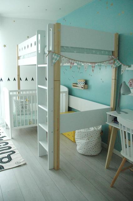 Chambre enfant mixte - 2 ans et 8 ans - Scandinave - Chambre d ...