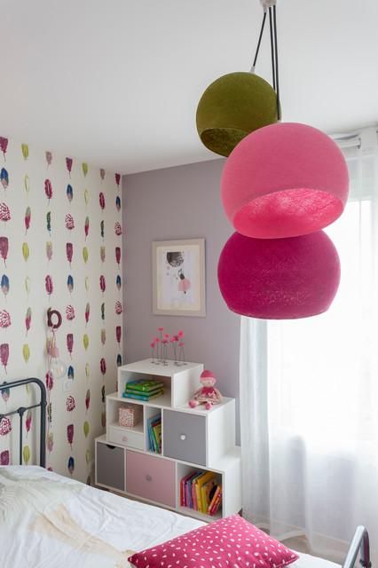 Chambre fillette rose romantique - Modern - Kinderzimmer - Bordeaux ...