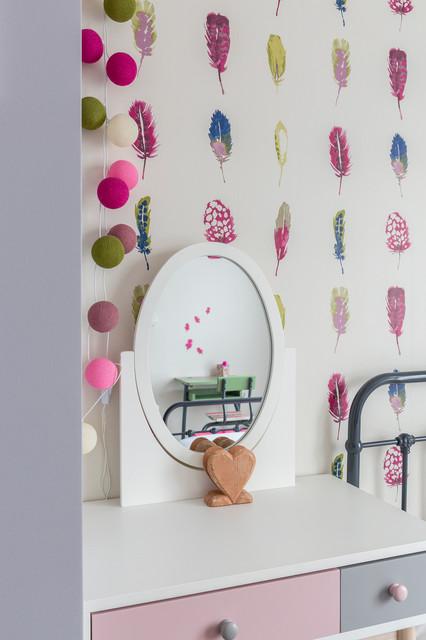 Chambre fillette rose romantique - Modern - Kinderzimmer ...