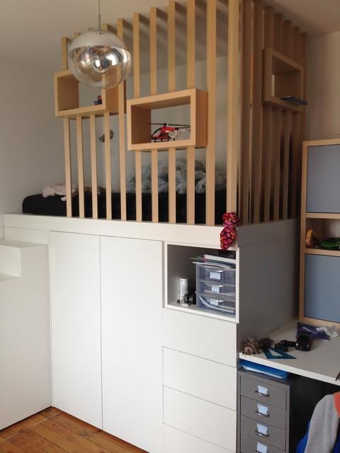 Chambre mezzanine ado Lyon - Skandinavisch - Kinderzimmer ...