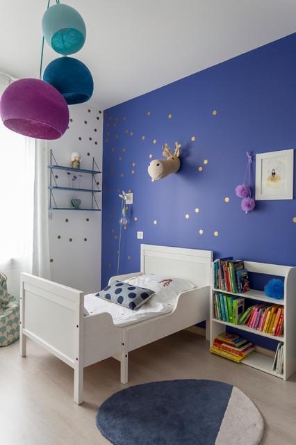 Chambre petite fille - bleu indigo - Contemporain - Chambre d\'Enfant ...