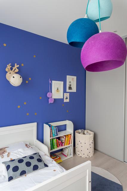 Chambre petite fille - bleu indigo - Contemporain - Chambre ...