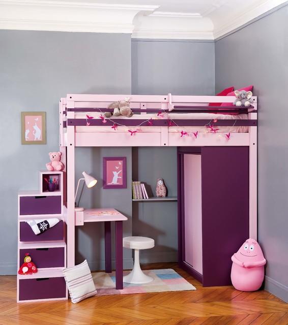 Chambre pour votre fille contemporain chambre d 39 enfant paris par - Lit mezzanine ado fille ...