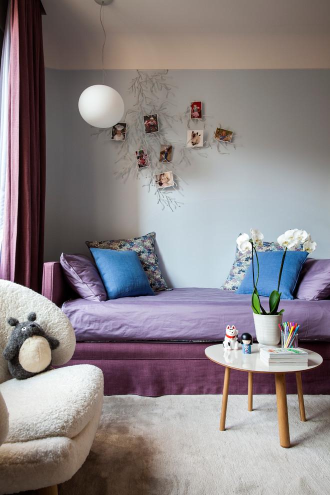 Aménagement d'une chambre d'enfant contemporaine.