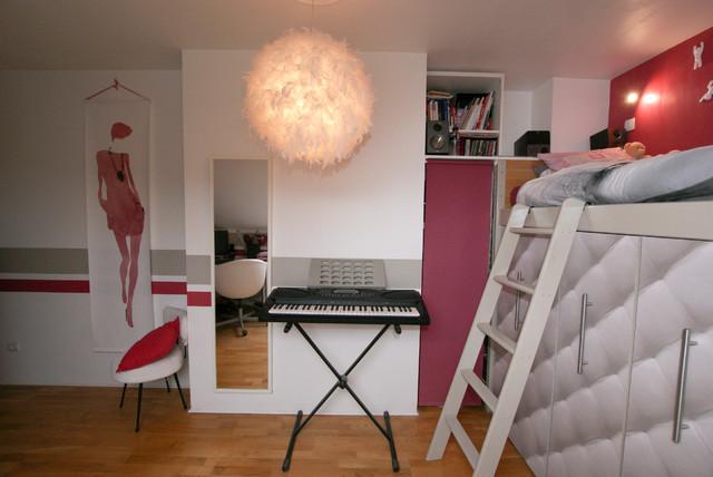 D coration chambre adolescente moderne chambre d 39 enfant paris par atelier goreti - Chambre d enfant moderne ...