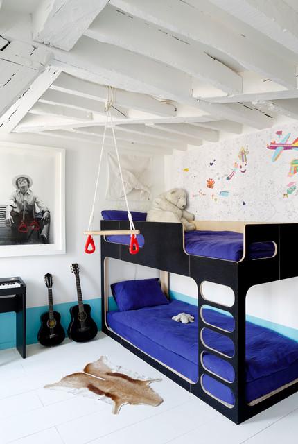Idées Récup Pour Relooker Une Chambre Denfant à Moindre Coût - Canapé convertible scandinave pour noël deco chambre enfant garcon