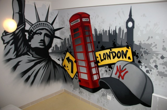 London vs new york graff - Chambre d enfant moderne ...