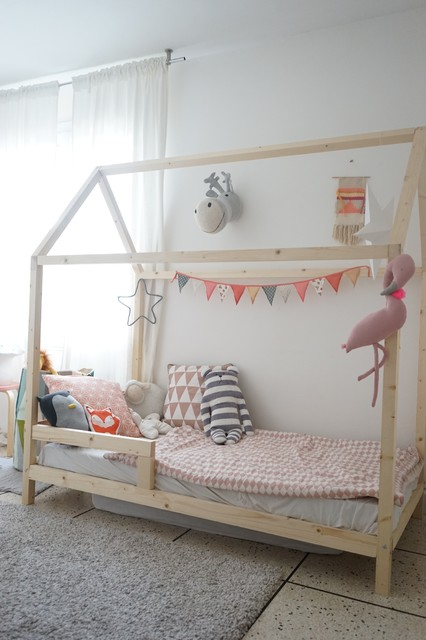 r aliser un lit cabane pour les enfants scandinave. Black Bedroom Furniture Sets. Home Design Ideas
