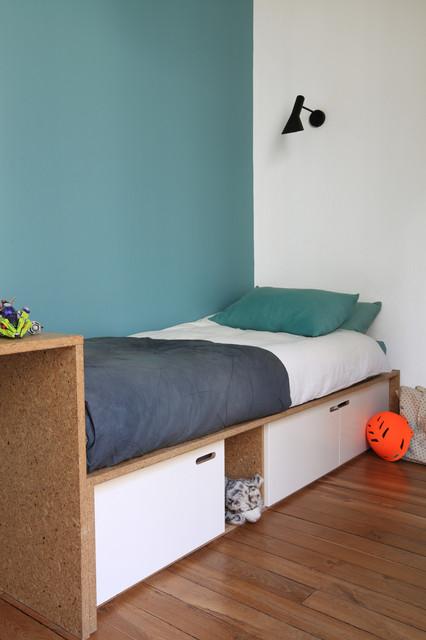 r novation compl te d 39 un appartement haussmannien contemporain chambre d 39 enfant paris. Black Bedroom Furniture Sets. Home Design Ideas