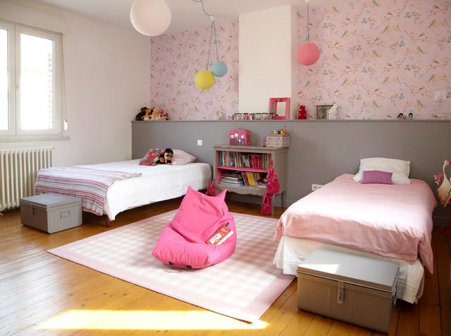 Rénovation D'Une Ferme - Contemporain - Chambre D'Enfant - Lille