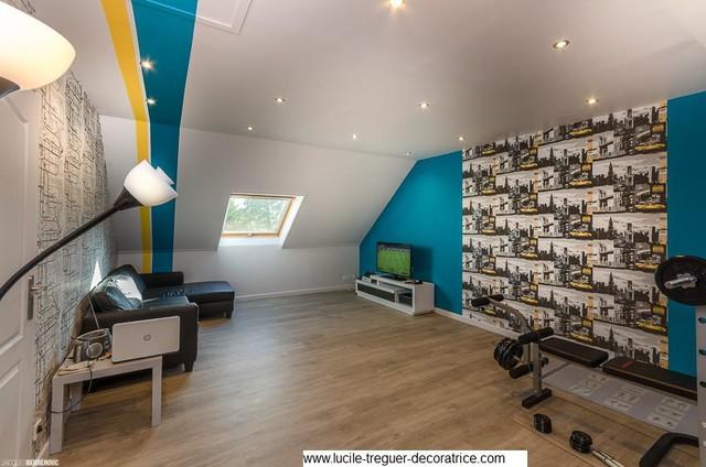 salle de jeux pour ados moderne chambre d 39 enfant brest par lucile treguer d coratrice d. Black Bedroom Furniture Sets. Home Design Ideas