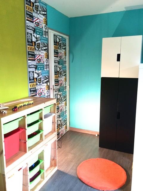 Une chambre super h ros pour petit gar on contemporain chambre d 39 enfant other metro par - Deco chambre super heros ...