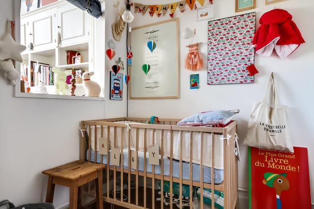 avenue junot clectique chambre de b b paris par meero. Black Bedroom Furniture Sets. Home Design Ideas