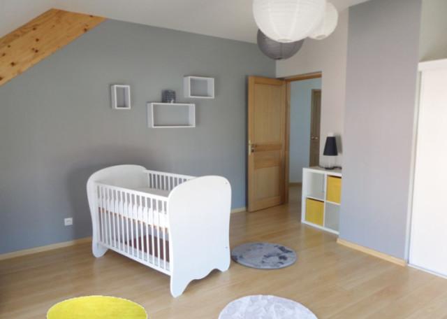 Chambre bébé garçon jaune/gris
