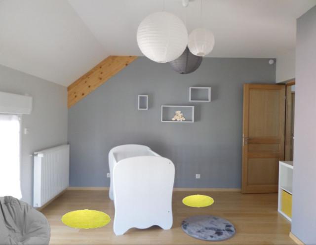 Chambre bébé garçon jaune/gris - Skandinavisch - Babyzimmer ...