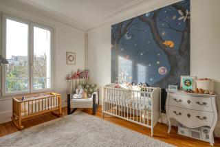 Chambre De Bebe Avec Un Mur Blanc Photos Amenagement Et Idees Deco De Chambres De Bebe Mars 2021 Houzz Fr