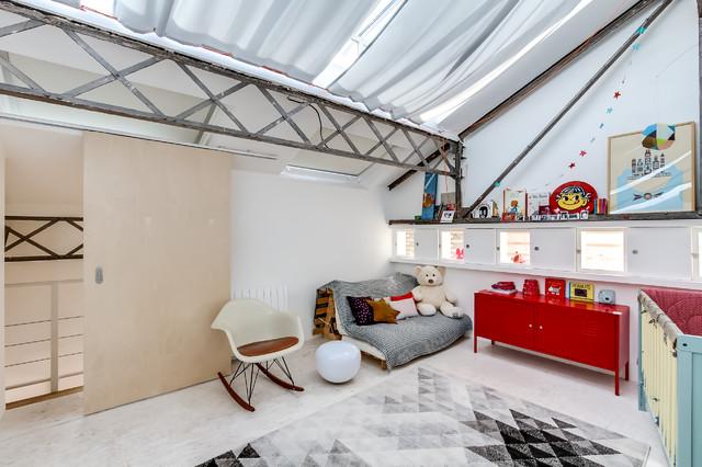 loft argenteuil eclectique chambre de bebe - Chambre Loft Bebe