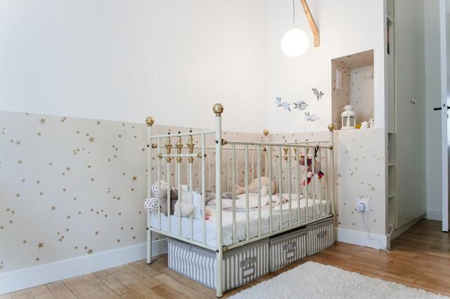 R novation d 39 un appartement scandinave chambre de b b for Chambre bebe paris