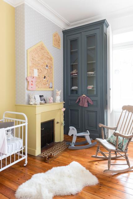 r novation d coration maison bourgeoise scandinave chambre de b b other metro par fusion d. Black Bedroom Furniture Sets. Home Design Ideas