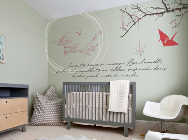 Stickers muraux chambre d 39 enfant contemporain chambre for Photo de chambre bebe