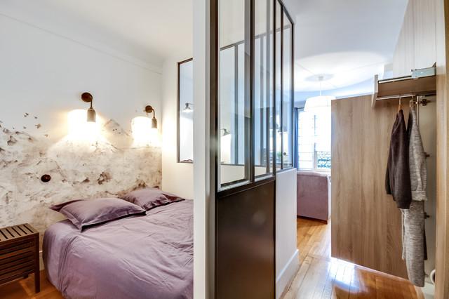 A Paris, un studio façon loft industriel - Industriel - Chambre ...
